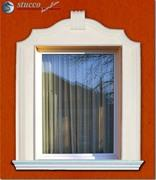 Fensterverzierung mit Fassadenelementen des Fassadenprofils Soul 60