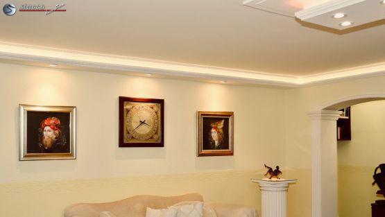 LED indirekte Beleuchtung mit U-Profil und L-Profil