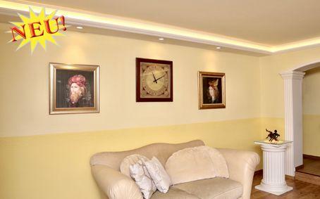 Direkte und indirekte Beleuchtung mit Kombi Stuckprofil