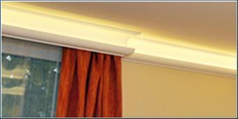 Indirekte Beleuchtung mit Styroporstuck und LED Strips