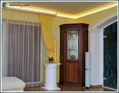 Indirekte Beleuchtung Decke mit Stuckleisten Styropor und LED Strips