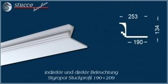 Indirekte Beleuchtung - L-Profil Zierleiste Dortmund 190+209