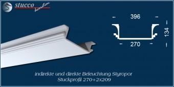 Indirekte Beleuchtung -U-Profil Zierleiste Dortmund 270+2x209