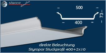 U-förmige Stuckleiste Bayern 400+2x10