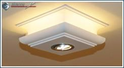 Indirektes Licht Decke mit LED Deckenleuchte Augsburg 304/205 und warmweißem LED Strip