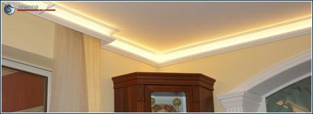 Beleuchtung indirekt mit Stuckleisten aus Styropor