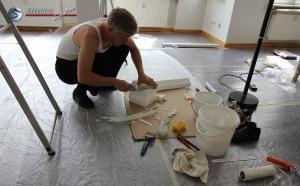 Andreas Pauli macht die Stuckarbeiten selbst