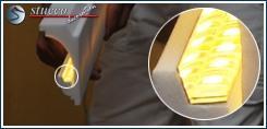 Indirektes Licht dank Styroporprofil, Reflektorleiste und LED Streifen