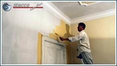 Malerarbeiten nach Abschluss der Stuckarbeiten