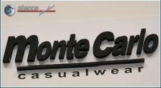 3D Firmenlogo Monte Carlo in Schwarzen 3D Buchstaben