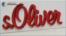 3D Schriftzug S.Oliver in Rot