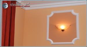 Wandgestaltung mit Stuckleiste Catania 49 und Wandleiste Sanmarino 50