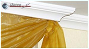 Vorhangleiste und Stuckleiste Trier 14 als Deckenleisten
