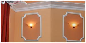 Eindrucksvolle Wandgestaltung mit Wandleisten aus Styropor