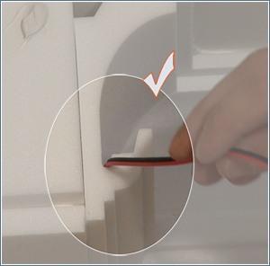 Nut für Kabel der indirekten Beleuchtung