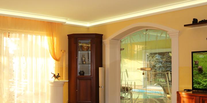 led deckenbeleuchtung mit stuckleisten. Black Bedroom Furniture Sets. Home Design Ideas