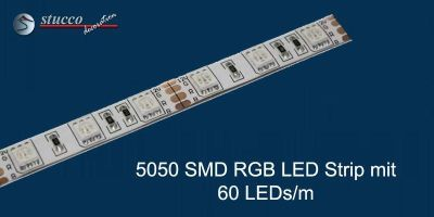 5050 SMD RGB LED Strip mit 60 LEDs/m