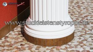 Mit Kunstharz und Quarzsand beschichteter Säulenfuss Stuckprofil OFKK