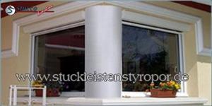 Glatte Styroporsäulen