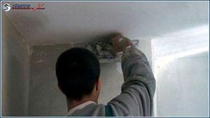 Montageanleitung f r styroporstuckleisten - Wand gerade spachteln ...
