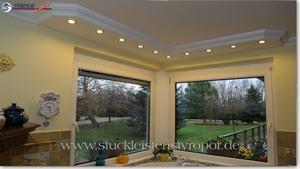 Doppelfenster in der Küche mit LED Stuckprofilen