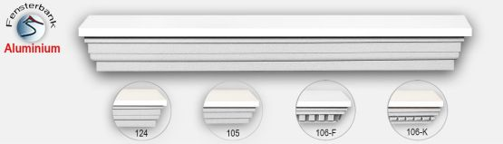 Fensterbänke mit integriertem Aluminiumblech
