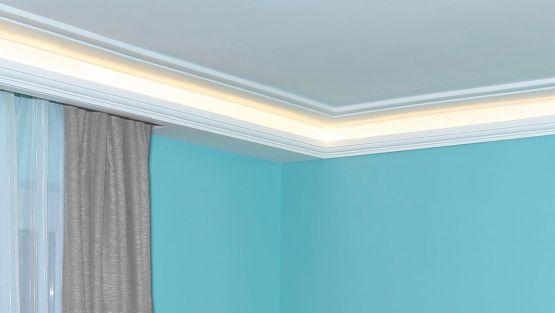 Deckenbeleuchtung Mit LED Streifen Und Styroporleisten