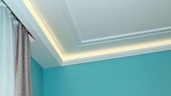 LED Deckenbeleuchtung Im Flur Mit Styroporleisten