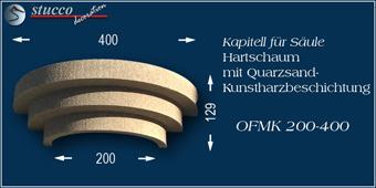 Beschichtetes Kapitell zu Säulen aus Styropor mit Stuckprofil OFMK