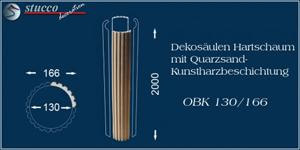 Beschichtete Viertel für Dekosäule aus Styropor OBK 130-166