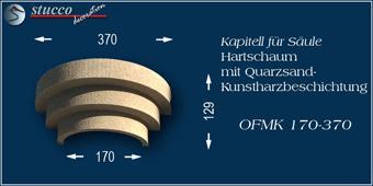 Beschichtetes Kapitell für Säule OFMK 170-370