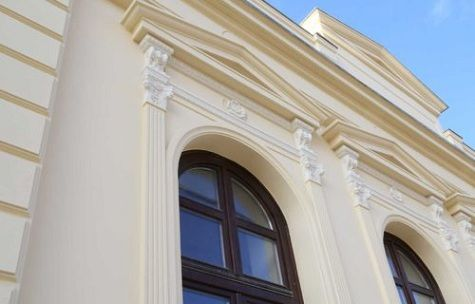 Traditionelle Fassadenstuck