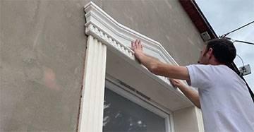 Komplette Fenstergiebel zur Fassadenerneuerung