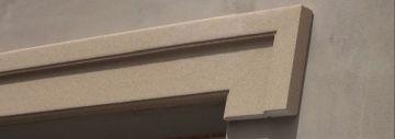 Fassadenstuck mit Beschichtung