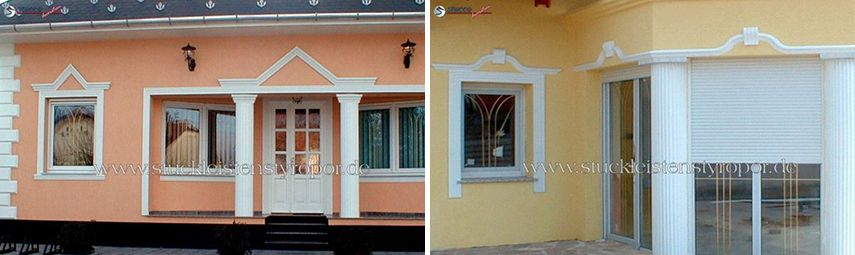 Fassadenprofile zur Tür- und Fensterumrandung