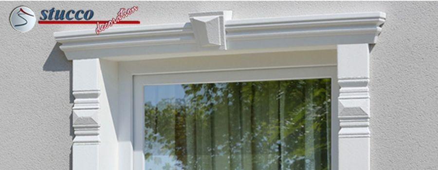 Keilsteine und Ziersteine für Stuckfenster