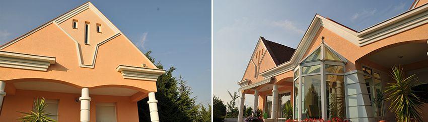 Kleine Gesimskunde - Fassadengestaltung mit Dachgesims, Giebelgesims und Gurtgesims