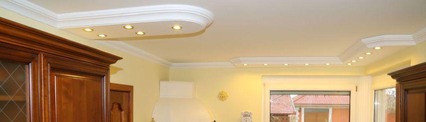 LED Beleuchtung in der Küche mit Stuckprofilen